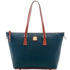 NWT Dooney & Bourke Black Pebble Grain Handbag